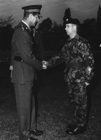 Ray Povey - WOII meeting Colonel in Chief